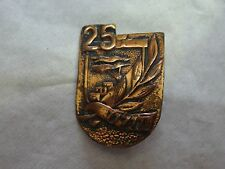 ISRAEL- HOLON- 25-YEARS-JUBILEE-PIN-BADGE-1960 BRASS PIN VINTAGE