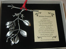 Mistletoe Christmas Ornament Peace Goodwill Love New Gift Boxed Faux Pearls