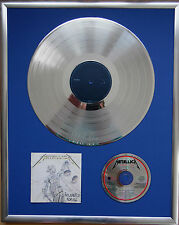 """Metallica And Justice infissi CD COVER +12"""" VINYL d'oro/platino disco"""
