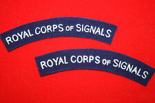 ROYAL CORPS OF SIGNALS WW2 STYLE CLOTH SHOULDER TITLES TITLE PAIR
