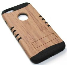 for iPhone 6 Plus Wood Grain Design Hard & Soft Hybrid Rubber Koolkase Skin Case