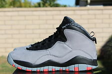 NIKE AIR JORDAN 10 RETRO X BG GS SZ 4 Y COOL GREY INFRARED BLACK 310806 023