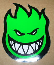 "SPITFIRE GREEN Logo Skate Sticker 2.5 X 3.25"" great 4 skateboards helmets decal"
