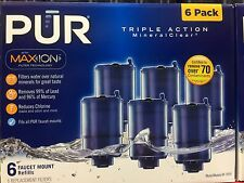 NEW PUR MineralClear Faucet 3 Stage Refill Filters 6 Pack  RF-9999 Blue MAX ION.