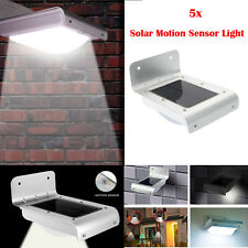 5X 16 LED Solar Power Motion Sensor Light Outdoor Waterproof Light Garden Lamp