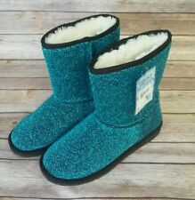"Sheep Dawgs Teal Glitter 9"" Boots Womens Sheepdawgs  Casual AUSSIE Style Size 8"