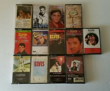 Huge Lot of 13 ELVIS Cassette Tapes Christmas Etc.