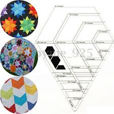 Diamond Shaped Acrylic Foot Ruler Patchwork Scrapbook Quilt Ruler Sewing Tools
