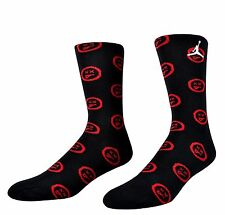 Air Jordan Retro 12 XII Bred Flu Game Red Black Limited Elite Socks Mens 8-12 LG