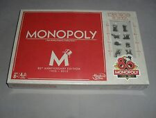 Monopoly 80th Anniversary Fun Family Property Trading Board Game SEALED MISB NEW
