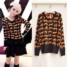 Brand New Japanese Style Soft Deer Cartoon Casual Blouse Sweater Shirt Top XS