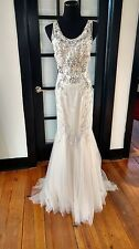 Badgley Mischka Couture ~ Burke ~ Champagne Crystal Wedding Gown size 10