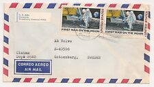 COVER BROOKFIELD VERMONT USA TO SWEDEN. FIRST MAN ON THE MOON. L359