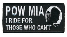 I RIDE FOR WHO CANT POW MIA MILITARY MORALE MILSPEC HOOK PATCH
