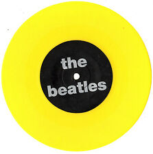 "THE BEATLES - CHICAGO SEATTLE PRESS CONFERENCES - YELLOW 7"" 45 RECORD 1990"