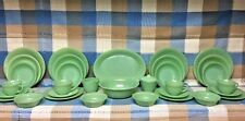 33 Pcs Jane Ray Fireking Jadeite 4 Place settings Veggie And Platter Sug Cremer