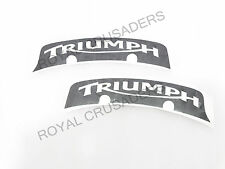 BRAND NEW TRIUMPH NUMBER PLATE STICKERS SET OF 2