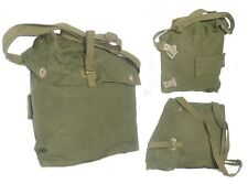 CANVAS SHOULDER BAG SWEDISH ARMY * 2 WAYS 2 WEAR student snack hiking GREEN +++