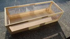 Landschildkröten Terrarium Holz 80x45x40 Schreiner-Qualität   Kein Bausatz !
