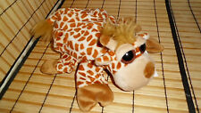 HAND PUPPET Caltoy Polyester Plush Brown Spotted Giraffe One Size Surface Wash