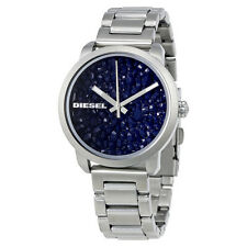 Diesel Flare Blue Metallic Geode Dial Mens Watch DZ5522