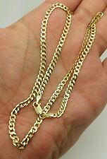 "14k Solid Yellow Gold Cuban Curb Link Necklace Chain 20"" 3.6mm"