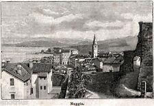 Muggia; Panorama. Trieste. Friuli-Venezia Giulia. Stampa Antica. 1894