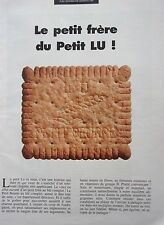 publicité  de presse    BISCUITS   LU  PETIT BEURRE en 1984 ref. 37592