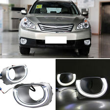 for Subaru Outback 2011-2012 Front Fog Light Angel Eyes Daytime Running Lamps