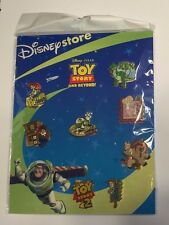 Toy Story and Beyond 8-Pin Set w/ Display Board, Toy Story 2 Disney Store, Pixar