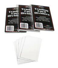 (3) BCW-TCD 10 Packs BCW White Trading Card Divider Cards Separators MTG Sports