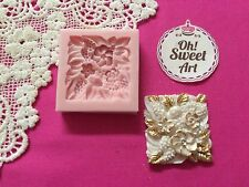 Square Brooch silicone mold fondant cake decorating soap foof APPROVED FOR FOOD