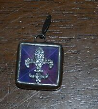 JEWEL KADE Charm - Purple Fleur De Lis - RETIRED