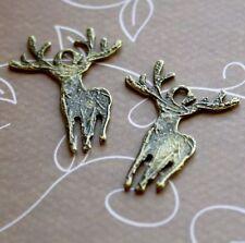 Antique bronze charm deer, raindeer – pack of 15