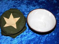 AUTHENTIC VIETNAM WAR NVA/ VC  ISSUE RICE BOWL WITH COVER AS SEEN IN THE PHOTO'S