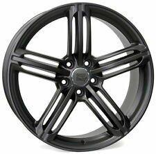 "20""MATT GUNMETAL TRIPLE BLADE STYLE ALLOY WHEELS FITS MERCEDES,VW,AUDI,"