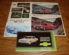 1966 Chevrolet Chevelle Owners Manual Sales Brochure Accessories Lot of 5 66