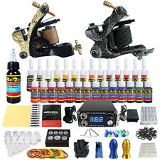 Solong Tattoo Complete Tattoo Kit Tips 2 Machine Gun 28 Ink   Power Supply TK222