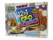 CHILDRENS KIDS 2 IN 1 GEOLOGY & SCIENCE VOLCANO EXPERIMENT KIT TOY SET R09-0012