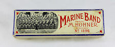 Vintage M. Hohner Marine Band Harmonica Key of C Made in Germany 1896 Model A440