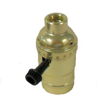 "Brass plated off/on lamp socket  1/2"" hole (1/4 IPS)   TR-28X"
