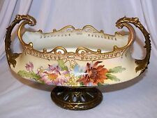 Antique Ernst Wahliss Turn Vienna Double Handle Hand Painted Vase Austria