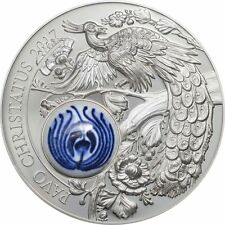 10$ 2017 Cook Islands - Royal Delft - Pfau - Pavo Christatus - smartminting 2 Oz