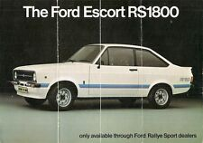 Ford Escort RS 1800 Mk2 1975-76 plegable de mercado del Reino Unido Folleto de ventas