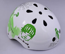 LAZER TRASHY SKATE BMX ADULTS MEN WOMEN BIKE CRASH HELMET 58-62cm GREEN/WHITE