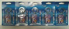 LOT 5 PIECE 2001 LOS ANGELES LAKERS NBA CHAMPIONS 2 Sided Acrylic Key Chains NIB