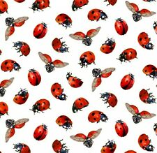 Fat Quarter Sunflowers Ladybirds Ladybugs Insects Cotton Quilting Fabric 488