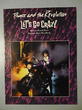 LET'S GO CRAZY Sheet Music 1984 PRINCE and the Revolution Pop #1 Hit