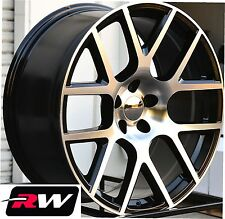 Dodge Charger Wheels 20 inch Challenger Scat Pack Black Machined Replica Rims