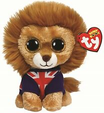 Ty Beanie Boos Hero the Lion Union Jack Boo 36055